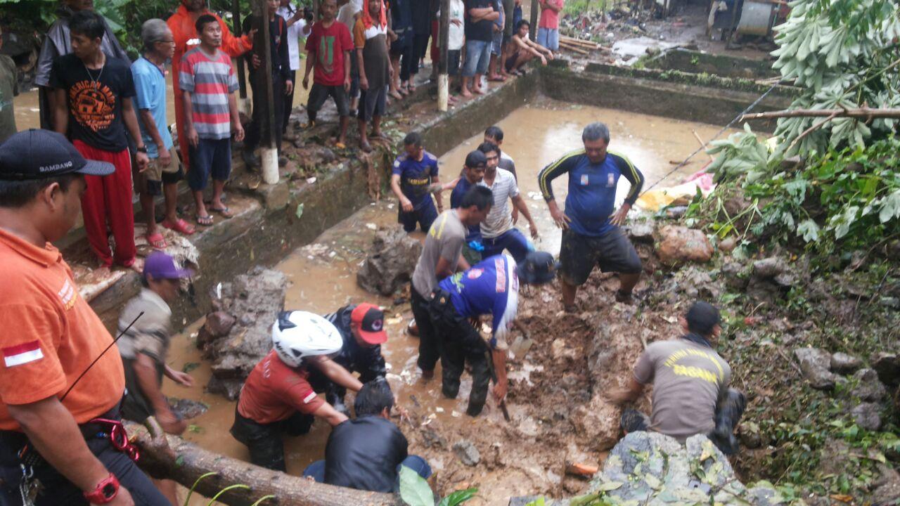Ilustrasi longsor di Bogor