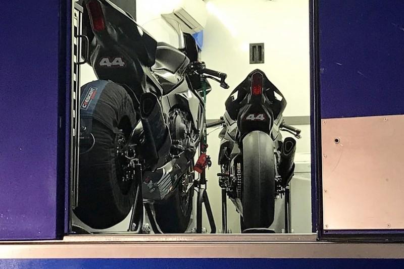 Motor Yamaha yang dikendarai Hamilton