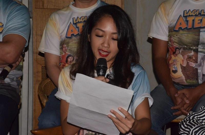 Istri membacakan surat Augie Fantinus