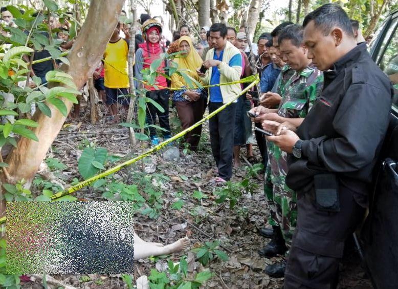 Jasad Wanita Korban Pemerkosa dan Pembunuhan di Boyolali (foto: Bramantyo/Okezone)