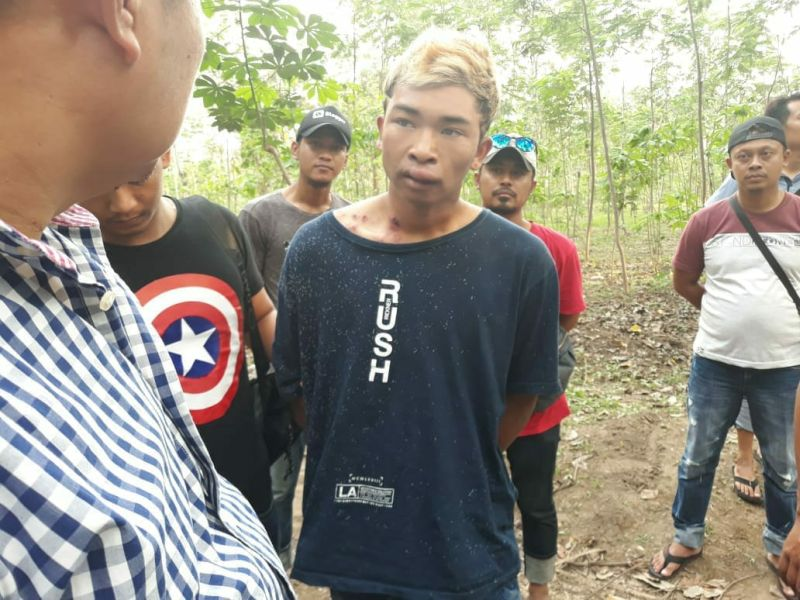 Pelaku Pemerkosa dan Pembunuhan Kasir di Boyolali (foto: Bramantyo/Okezone)