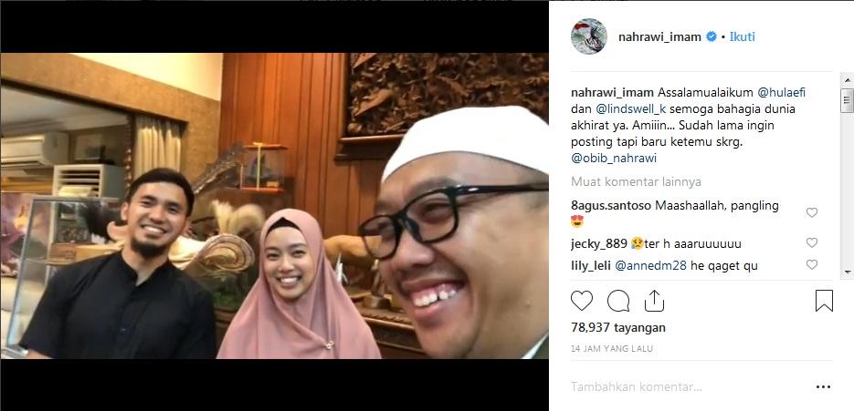 Posting-an Imam Nahrawi bersama Lindswell Kwok dan Achmad Hulaefi