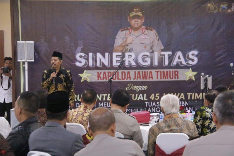 Diskusi Situasi Kamtibmas Jatim Yang Kondusif Menjelang Pileg Dan Pilpres Tahun 2019 (foto: Syaiful Islam/Okezone)