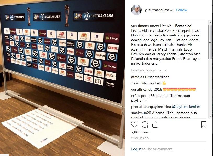 Lechia Gdansk (Foto: Instagram/@yusufmansurnew)