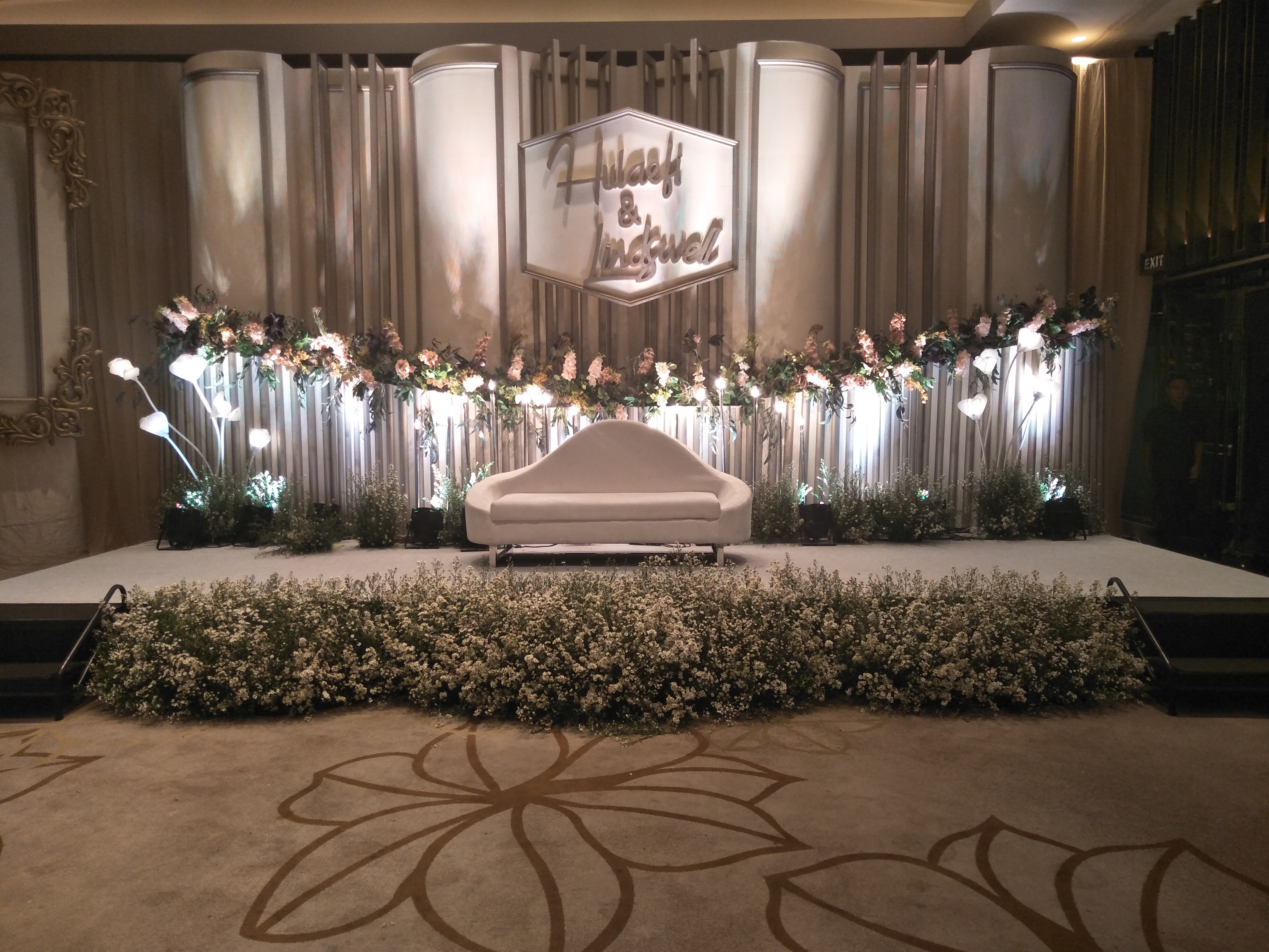 Resepsi pernikahan Lindswell Kwok dan Ulay