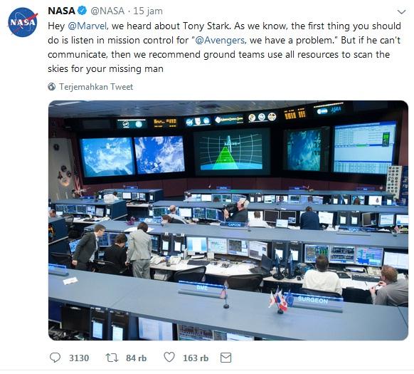 NASA merespons fans Avengers: Endgame
