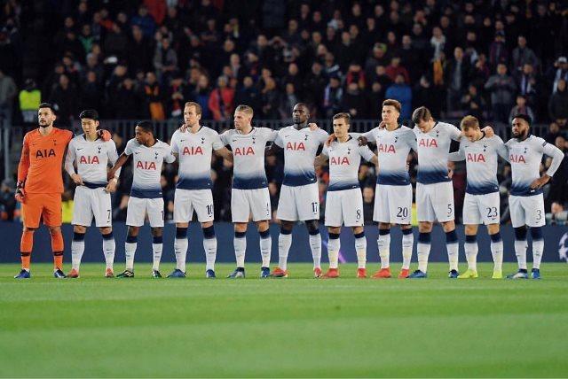Barcelona vs Tottenham Hotspur (Foto: Twitter Tottenham)