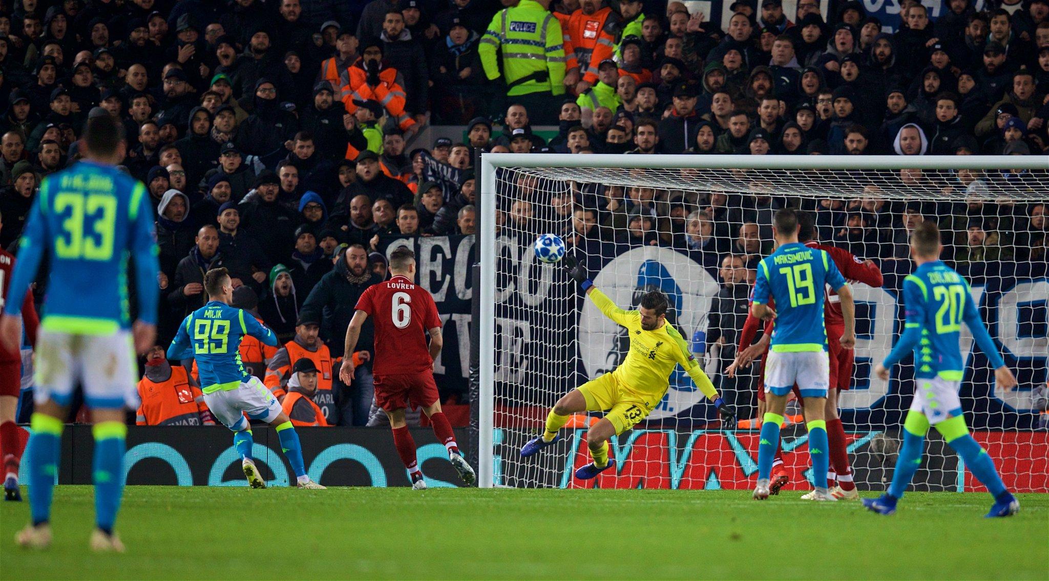 Liverpool vs Napoli (Foto: Twitter Liverpool)