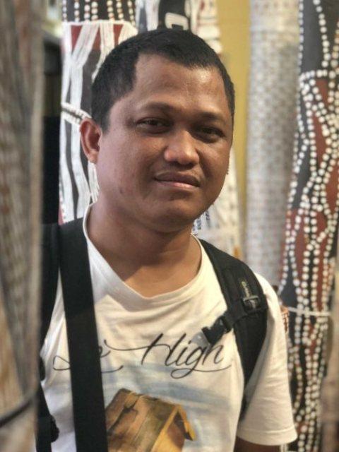 Seniman Makassar Nurabdiansyah. (Foto: Dok pribadi)
