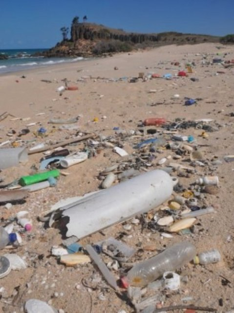 Sampah plastik. (Foto: Matt Garrick/ABC News)