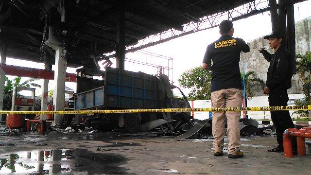SPBU Terbakar di Makassar