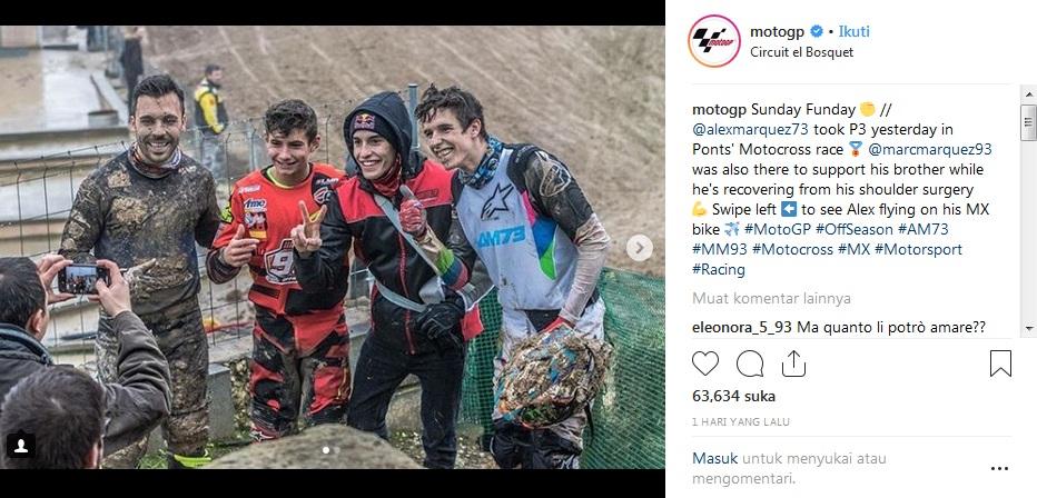 Marc Marquez dan Alex Marquez. Foto: Instagram MotoGP