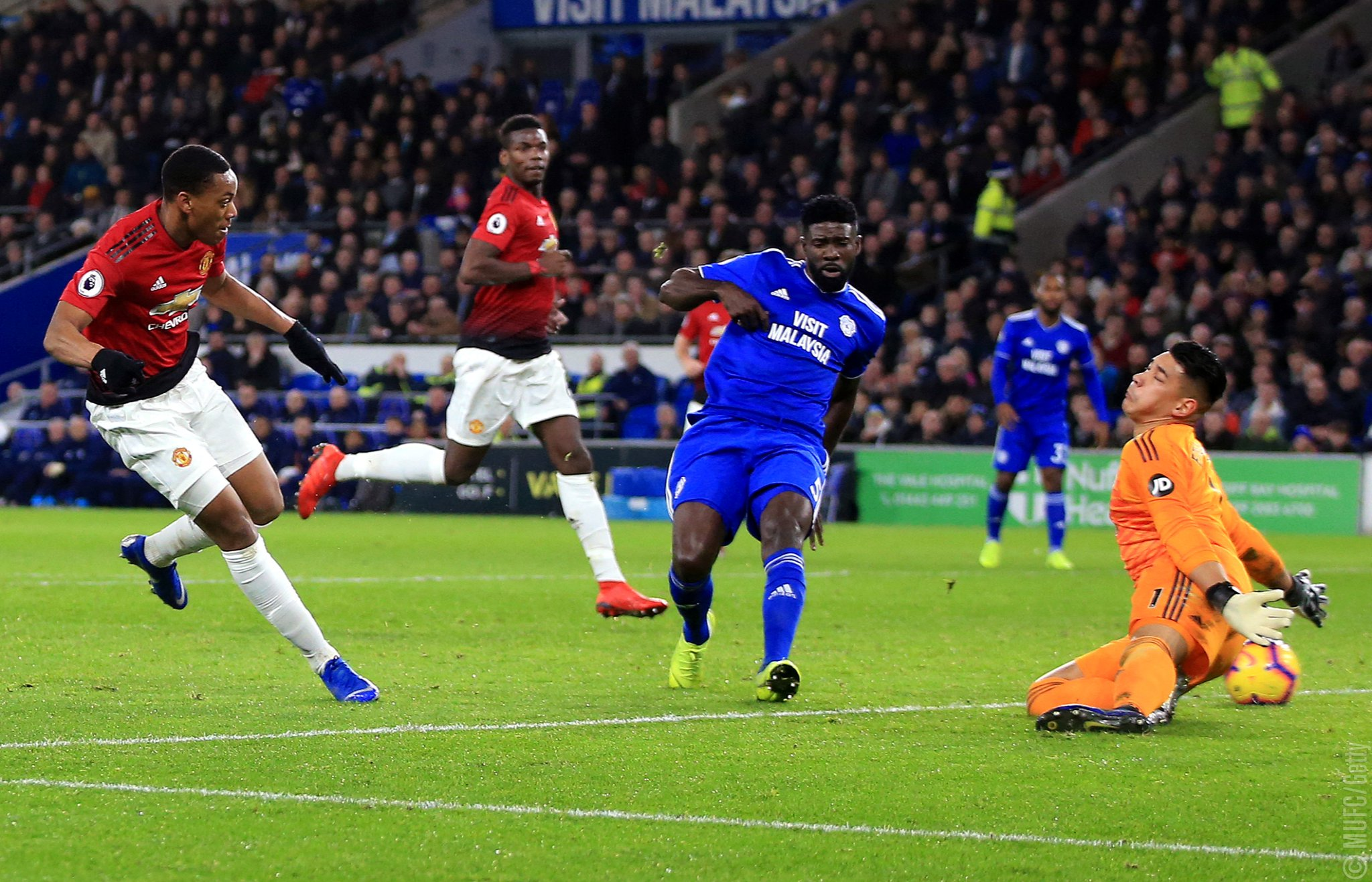 Cardiff City vs Man United (Foto: Twitter/@ManUtd)