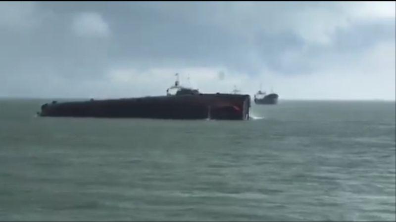 Kapal MV Amand berbendera Palau tenggelam di perairan OPL Perbatasan Malaysia-Indonesia (foto: Ist)