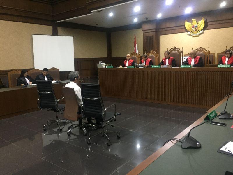 Sidang Suap Panitera Hakin PN Jakpus dengan Terdakwa Eddy Sindoro di Pengadilan Tipikor Jakarta (foto: Harits/Okezone)