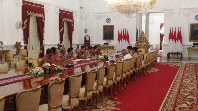 Jokowi bertemu rektorat UI (Fakhrizal Fakhri/Okezone)