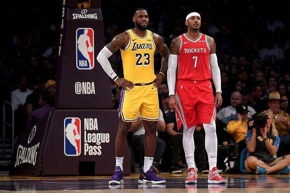 LeBron James dan Carmelo Anthony (Foto: Sportskeeda)