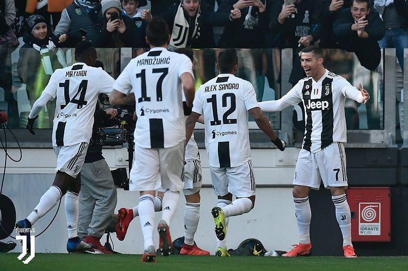Ronaldo mencetak gol kemenangan Juventus