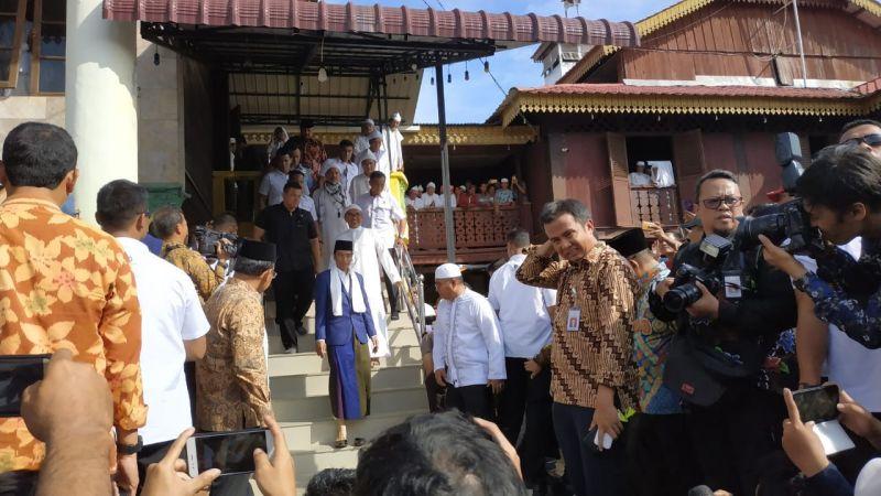 Jokowi di Ponpes di Sumut (Foto Fakhrizal Fakhri/Okezone)