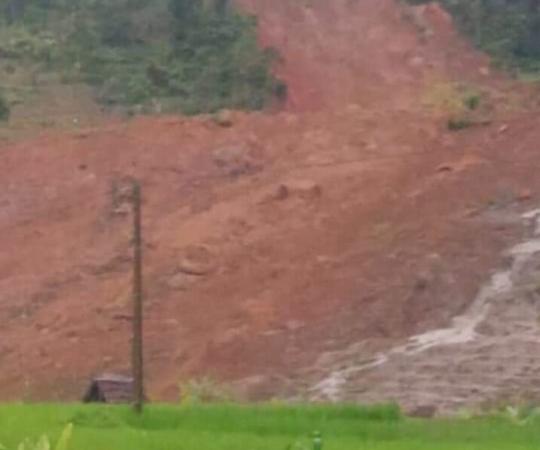 Longsor di Sukabumi (foto: BNPB/Istimewa)