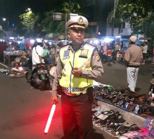 Polisi berjaga di kegiatan tablig akbar