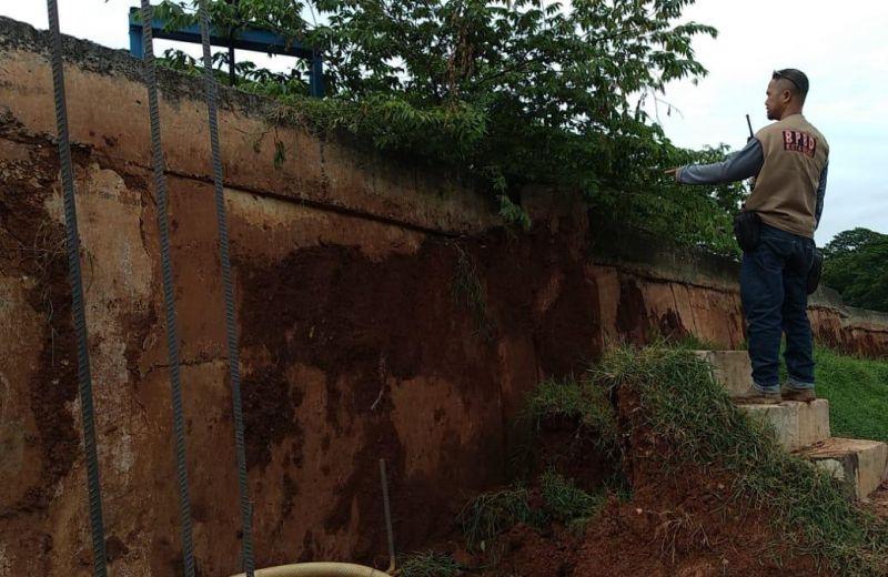 Pergeseran Tanah di Rawalumbu, Kota Bekasi, Jawa Barat (foto: Wijayakusuma/Okezone)