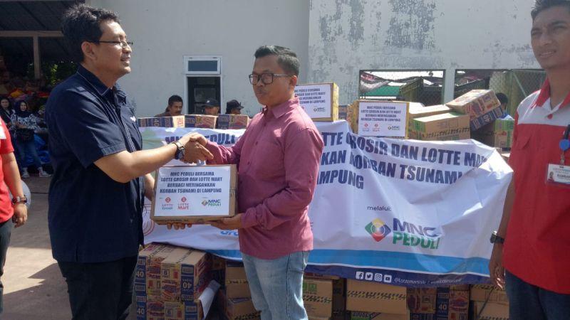 MNC Peduli-Lotte Mart dan Lotte Grosir Kirim Bantuan untuk Korban Tsunami di Lampung (foto: Istimewa)