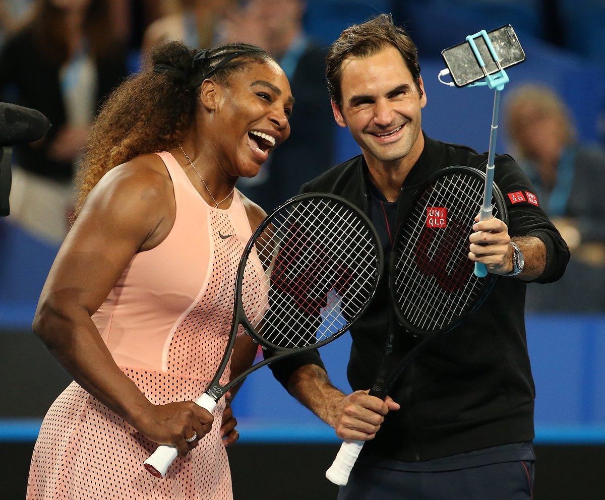 Roger Federer dan Serena Williams (Foto: Twitter Piala Hopman)