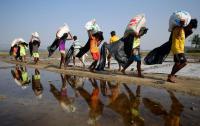 Kasihan... Tunggu Izin Masuk dari Bangladesh, Puluhan Ribu Orang Rohingya Harus Bermalam di Sawah