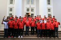 Berangkatkan Timnas Futsal ke Vietnam, Hary Tanoe Pesan Skuad Garuda Jaga Kekompakan