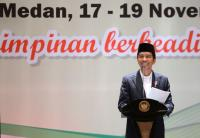 Usai Buka Munas KAHMI, Jokowi <i>Blusukan</i> ke Pasar Aksara Medan