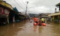Sungai Tambarangan Meluap, Permukiman Dua Kecamatan di Kalsel Terendam
