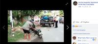 Heboh, Kakek Bakar Motor Sendiri karena Tak Mau Ditilang