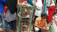 Pedagang Burung Ikutan Dapat Berkah di Tahun Baru Imlek di Bekasi