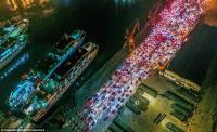 Libur Imlek Usai, 12.000 Mobil Wisatawan Tertahan di Pelabuhan Hainan