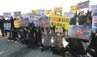 Unjuk Rasa Sambut Kedatangan Jenderal Kontroversial Korut di Seoul