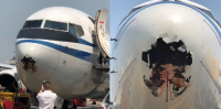 Tabrakan dengan Burung Hasilkan Lubang Besar di Hidung Pesawat Air China