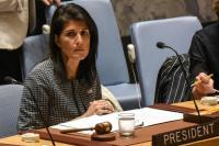 """Dubes AS untuk PBB Diteriaki """"Penandatangan Genosida"""" saat Pidato di Houston"""