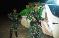 Prajurit TNI Amankan 700 Kg Kayu Gaharu di Perbatasan