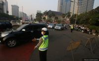 Hari Pertama Sekolah, Lalu Lintas Jakarta Terpantau Padat