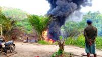 Sumur Minyak Ilegal di Batanghari Terbakar, Api Menyembur 20 Meter