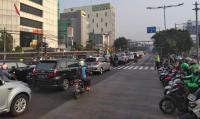 Senin Pagi Ini, Lalu Lintas di Jakarta Pusat Padat Kendaraan