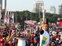 Anies Baswedan Pimpin Hari Terakhir Kirab Obor Asian Games 2018 di Jakarta