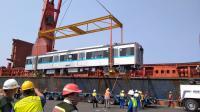 4 Rangkaian Kereta MRT Jakarta Tiba di Tanjung Priok