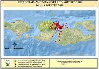 Puluhan Gempa Susulan Terjadi di Lombok Setelah Guncangan 6,9 SR