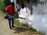 Tekan Penyakit DBD, Rescue Perindo Lakukan <i>Fogging</i> di Sidoarjo