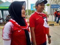Suporter Timnas Indonesia Mulai Padati Stadion Wibawa Mukti