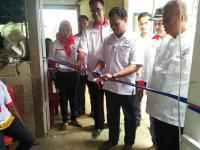 Caleg Perindo Resmikan Pabrik Kerupuk Ubi Binaan Partai di Banyuasin