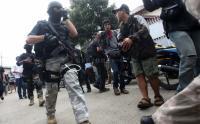 Lempar Pisau ke Tim Densus 88, 2 Terduga Teroris Ambruk Ditembak