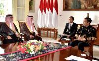 Jokowi Terima Kunjungan Menlu Arab Saudi di Istana Bogor